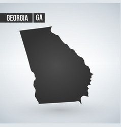 Georgia state map silhouette isolated on white vector