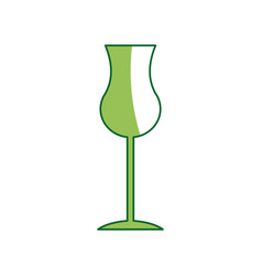 Glass cup for drink bar glassware alcohol vector