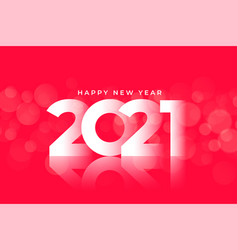 Glossy 2021 happy new year red background design vector