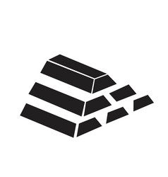 Gold bars icon vector