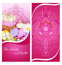 handmade soaps flyer vector image