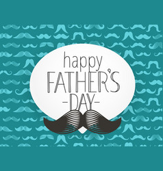 happy fathers day greeting card with abstract vector image
