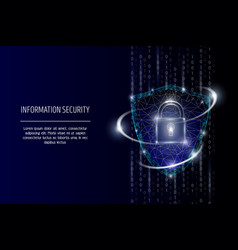 information security polygonal art style vector image