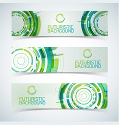 Interactive circles banners set vector