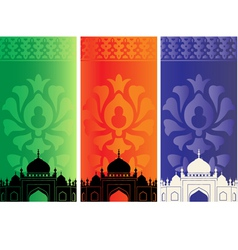 Islamic mosques vector