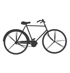 Isolated retro bicycle vector