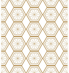 japanese gold background and pattern geometric pa vector image