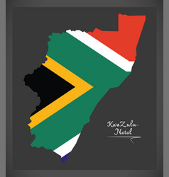Kwazulu - natal south africa map with national vector