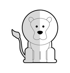 Lion cartoon animal icon image vector