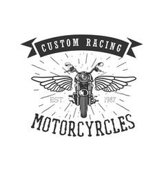 logo motorcycle vintage vector image