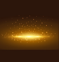 Magic light golden spot with background vector