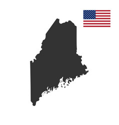 map us state main vector image