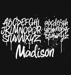 Marker graffiti font vector