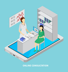 mobile medicine concept vector image