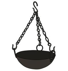 Old magical cauldron vector