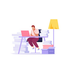 Paper work icon vector