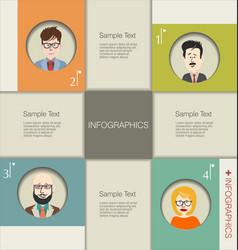people teamwork banner and infographic concept 8 vector image