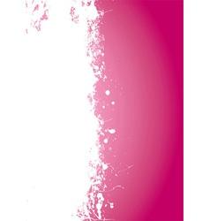 Pink splat grunge vector image
