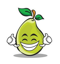Proud face pear character cartoon vector