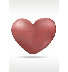 Red Metallic heart vector image