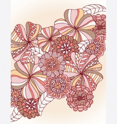 retro flower cluster vector image
