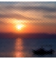 Retro sunset pattern of geometric shapes vector image