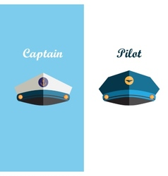 Sailor and pilot cap vector