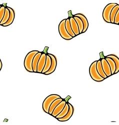 Seamless pumpkin pattern vector image