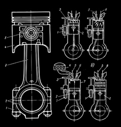 set of blueprints vector image