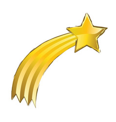 shooting yellow star vector image