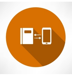 Smartphone and notepad exchange icon vector