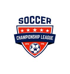 soccer football emblem design element for logo vector image