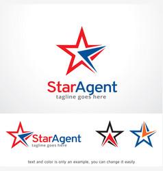 Star agent logo template design vector
