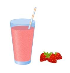 strawberry juice vector image
