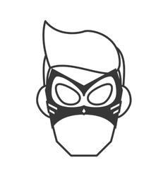 Superhero superman mask face design vector