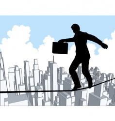 tightrope vector image