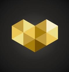 Triangle Geometric Mosaic Heart vector image