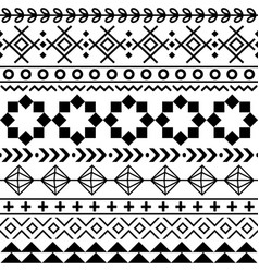 tribal aztec seamless geometric pattern navajo vector image