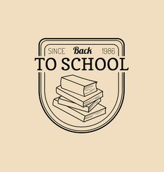 vintage back to school logo retro emblem vector image