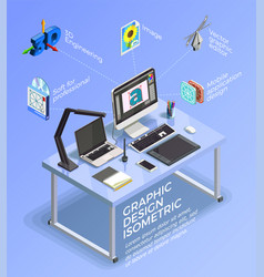 visual design infographic concept vector image