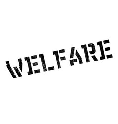 Welfare rubber stamp vector