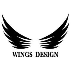 Wings design 9 vector
