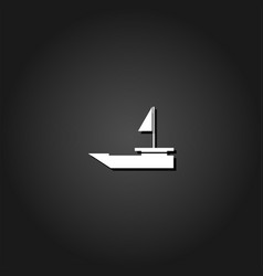 yacht boats icon flat vector image