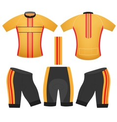 Yellow cycling vest vector