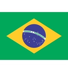 Flag of Brazil in correct proportions and colors vector image vector image