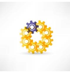 Gears into circle icon vector image vector image