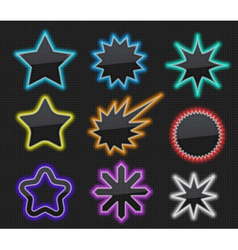 Glossy stars vector image vector image