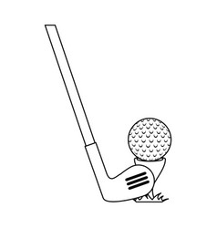 golf ball accessory with club vector image vector image