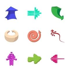 Pointer icons set cartoon style vector