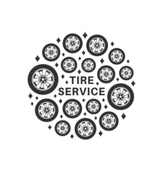 tire repair service background vector image